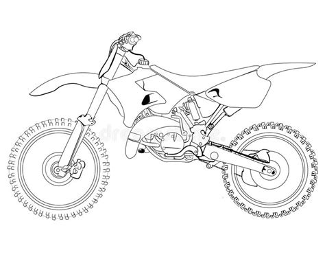 how to draw a motocross bike dirt bike sketch stock photo image of headlight
