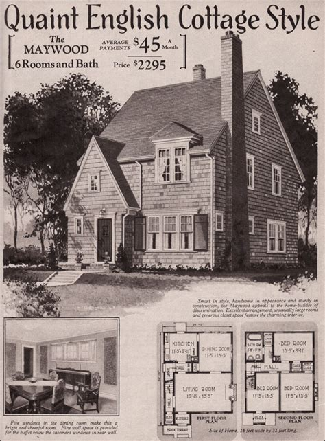 1930s Cottage Style Homes by 1930 Cottage Maywood Kit Home Montgomery Ward