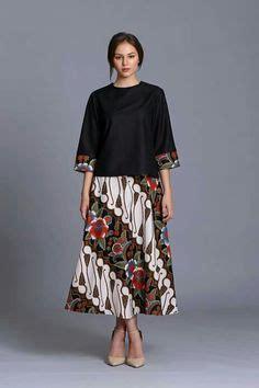 Kebaya Setelan Atasan Dan Bawahan Skirt Batik Restya Set paduan rok batik dan kebaya brokat model peplum batik