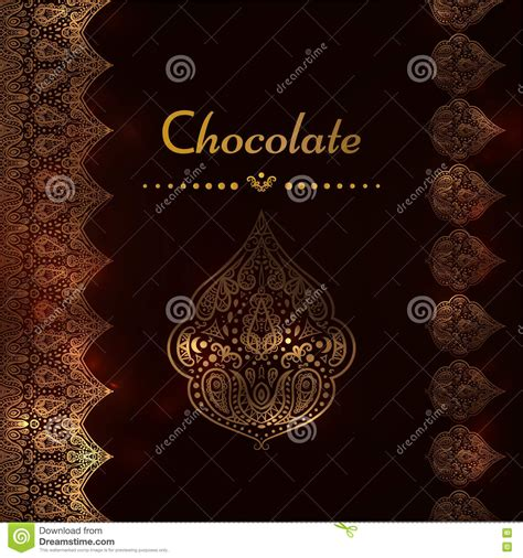 chocolate lace template a luxury vintage vector card invitation with beautiful
