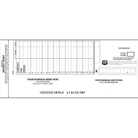 carbonless deposit ticket books quick scan custom carbonless deposit ticket loose sets custom promotional