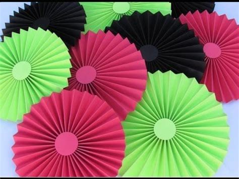 How To Make Paper Rosette Flowers - diy paper crafts how to make simple paper rosettes
