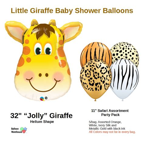 Baby Giraffe Baby Shower by Giraffe Baby Shower Balloons Mylar Bouquet
