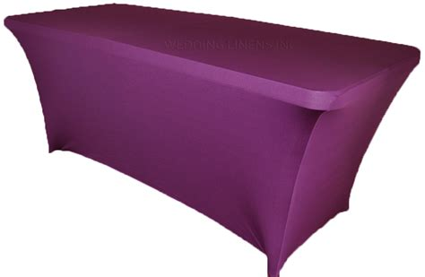 spandex table cover 8 ft rectangular purple spandex table covers