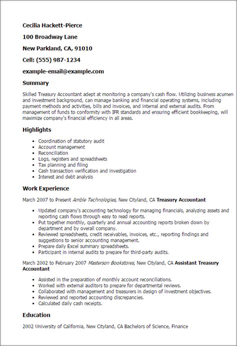 Church Accountant Cover Letter by Treasurer Resume Exles