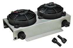 fluid cooler with fan derale hyper cool remote fluid coolers with fan kits 13740