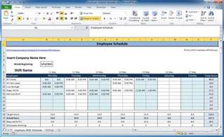 Weekly Shift Schedule Template by Weekly Employee Shift Schedule Template Excel 2003