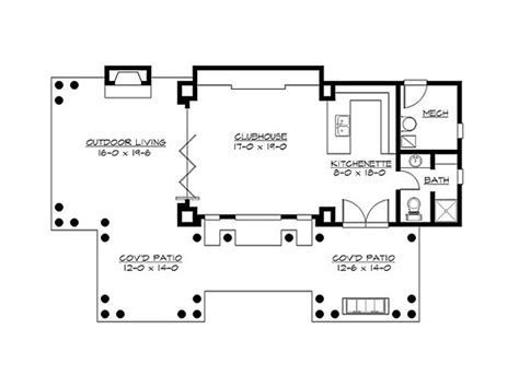 pool cabana floor plans pool house plans pool cabana covered patio and clubhouse