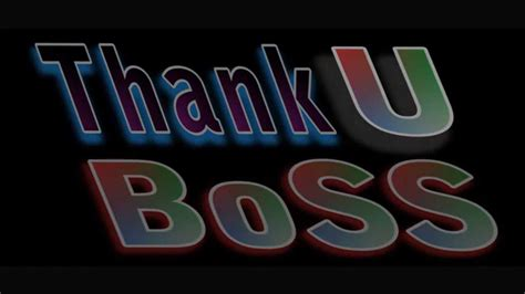 thank you boss first look youtube