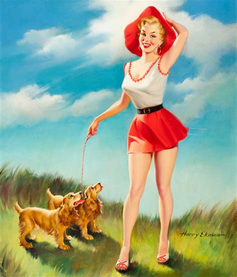 pin up legends of pin up harry ekman pin up and cartoon girls