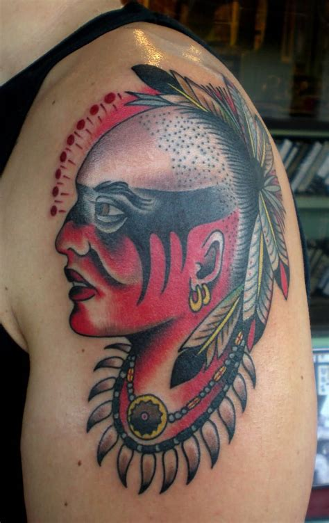 indian warrior tattoo indian ideas and indian designs page 36