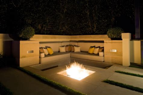 modern outdoor firepit in ground pit design juggles cold outdoor into a warm space to hang out homesfeed