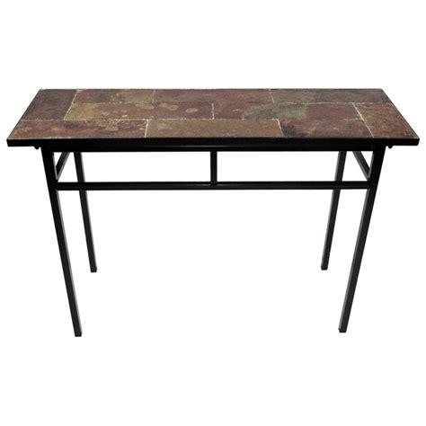Slate Top Sofa Table Black Metal Base Dcg Stores Black Metal Sofa Table