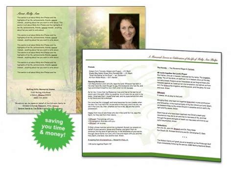 free printable funeral program template just b cause