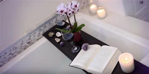Across Bath Shelf by She Makes A Bath Tub Shelf For Relaxation And Enjoyment