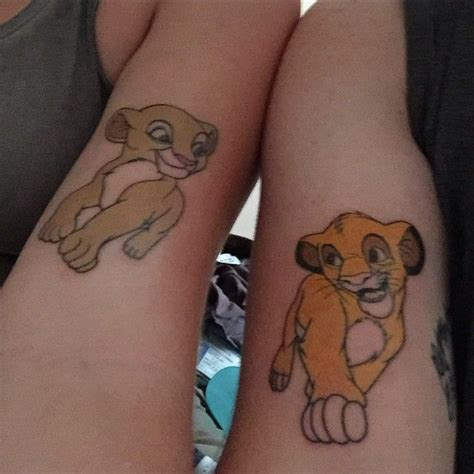 tattoo couple disney tatouages de couples inspir 233 s par disney le roi lion