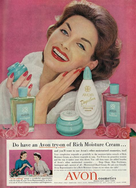 Skin Care In The 50s by 1958 Ad Avon Cosmetics Skin Care Products With
