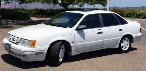 ford taurus sedan 1991 white for sale 1facp54y7ma231117 1991 ford taurus sho sedan 4 door 3 0l