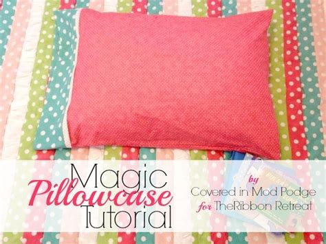 pattern for magic pillowcase magic pillowcase tutorial the ribbon retreat blog