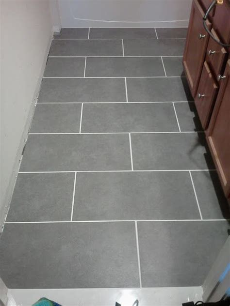 "Mitte Gray 12"" x 24"" tile from Lowes, $1.99 a square foot"