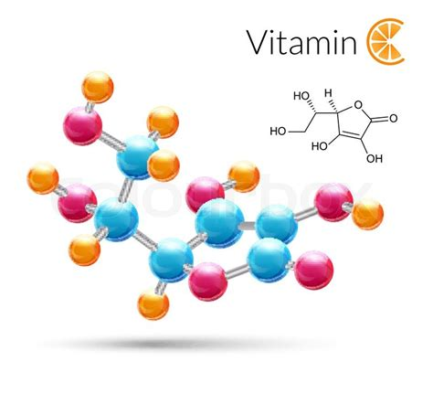 vitamin   molecule chemical science atomic structure