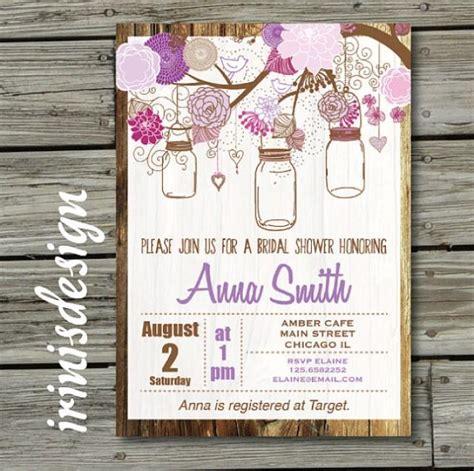 backyard baby shower invitations mason jar bridal invitation hanging invite country rustic shabby chic baby shower