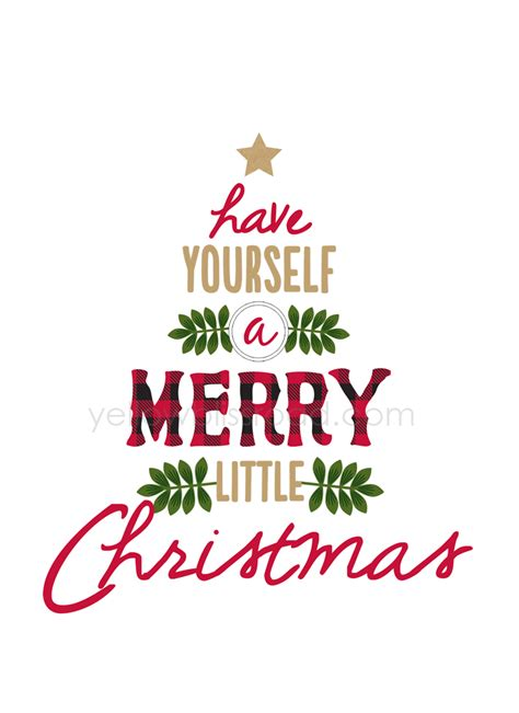printable xmas quotes have yourself a merry little christmas rustic sign