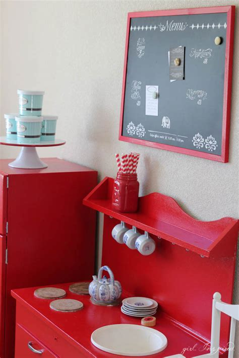 diy chalkboard for playroom playroom kitchen set inspired
