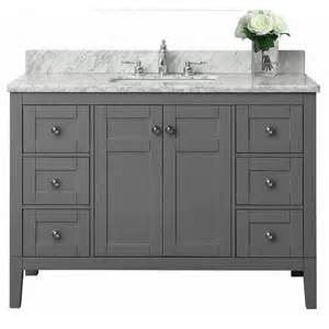 Lowes Vanity Grey Shop Ancerre Designs Maili Sapphire Gray Undermount Single