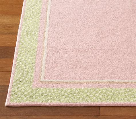 Pottery Barn Baby Rugs Pink Polka Dot Border Rug Swatch Pottery Barn