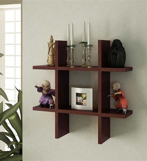 wall shelves pepperfry plus shaped display wall shelf by home sparkle online