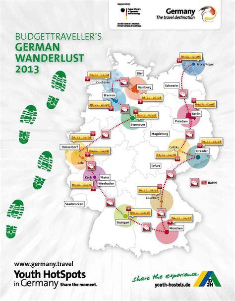 tourist map germany german rail network map