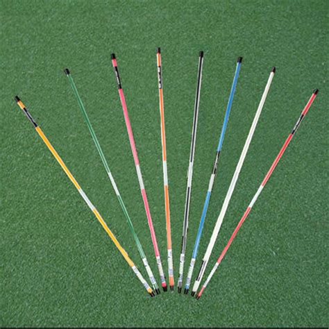 golf swing stick 1 pair golf alignment sticks swing tour training aid