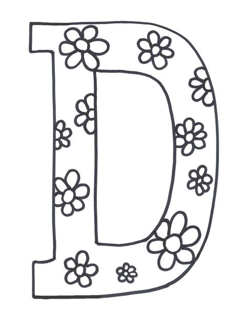 free printable alphabet letters printable letter d coloring pages many interesting cliparts 1252