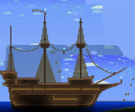 minecraft grian boat terraria pirate galleon base by typhingblade on deviantart
