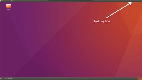 ubuntu configure tightvnc server vnc server how to show upper right panel