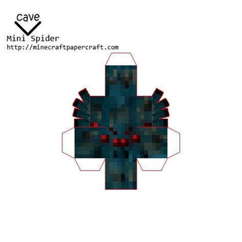 Minecraft Papercraft Spider - cave spider minecraft ideas