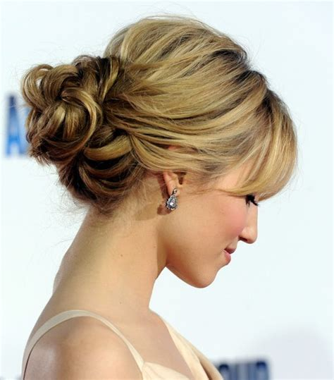 updo hairstyles gallery dianna agron loose bun updo hairstyles weekly