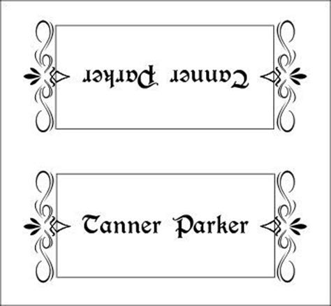 place card template 12x12 1000 ideas about place card template on