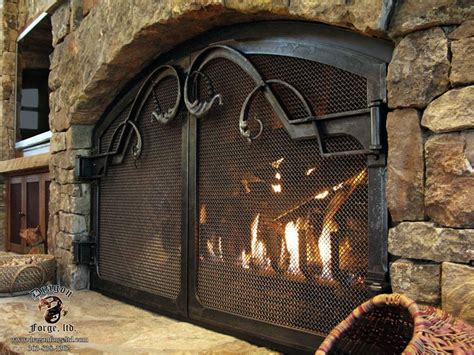 forged iron fireplace doors catherine s pin