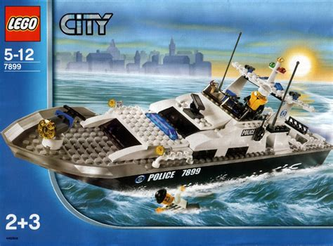 lego police boat instructions 7899 city - Lego Boat Police 7899