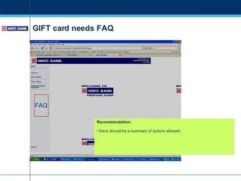 Hdfc Gift Card Balance Inquiry - usability hdfc