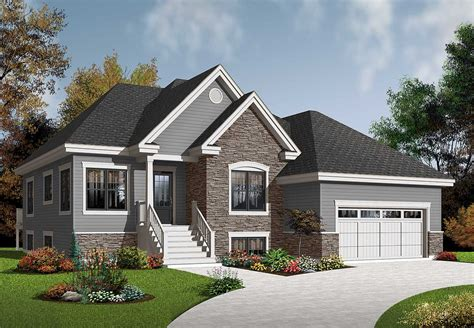 Bungalow With Twin Porches 21488dr 1st Floor Master Suite Cad Available Canadian Cottage | bungalow with twin porches 21488dr 1st floor master