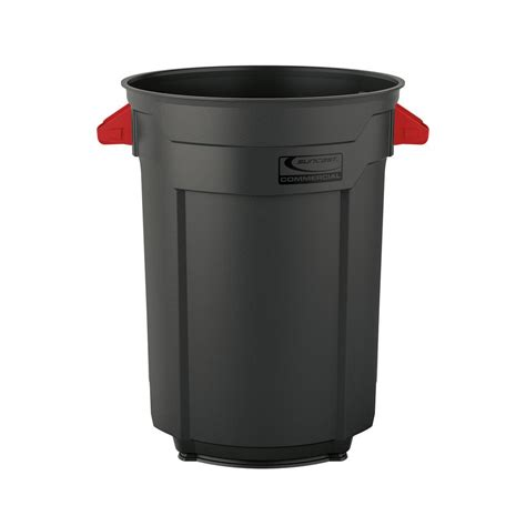 commercial trash cans suncast commercial 44 gal commercial utility trash can bmtcu44 the home depot