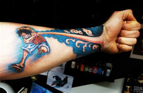 pretty clever bro one piece hand as a hand tattoo
