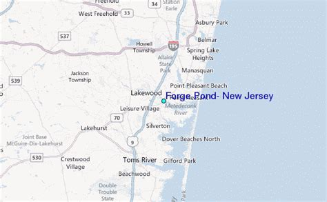 forge pond new jersey tide station location guide