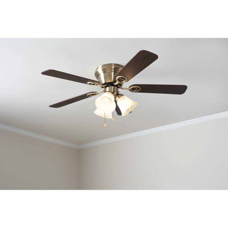 walmart ceiling fans with lights mainstays 42 quot ceiling fan with light kit antique brass