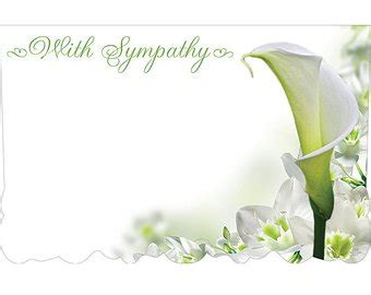 blank sympathy card template popular items for with sympathy on etsy