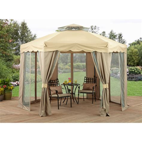10 X 12 Patio Gazebo 10 X 12 Regency Ii Patio Gazebo With Mosquito Netting Modern Patio Outdoor