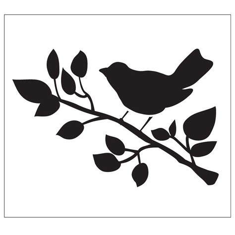 Folkart Bird Painting Stencils 30601 The Home Depot Stencil Templates For Painting